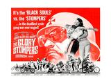 THE GLORY STOMPERS, lower left: Dennis Hopper (bearded man wrestling, upright), 1968. Poster