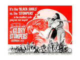 THE GLORY STOMPERS, lower left: Dennis Hopper (bearded man wrestling, upright), 1968. Posters