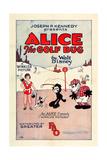 ALICE THE GOLF BUG, left: Virginia Davis on U.S. poster art, 1927 Poster
