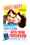 AND NOW TOMORROW, US poster, Alan Ladd, Loretta Young, 1944 Poster