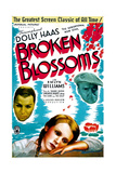 BROKEN BLOSSOMS, US poster art, from left: Emlyn Williams, Dolly Haas, Arthur Margetson, 1936 Poster