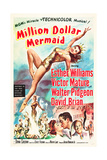 MILLION DOLLAR MERMAID, Esther Williams, Victor Mature, David Brian, 1952 Posters