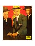 BENSON MURDER CASE, from left: Eugene Pallette, William Powell on jumbo window card, 1930 Prints