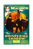 THE WHISPERING SHADOW, top and inset left: Bela Lugosi in 'Chapter 3: The All-Seeing Eye', 1933. Print
