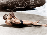 FROM HERE TO ETERNITY, from left: Burt Lancaster, Deborah Kerr, 1953 Print