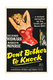 DON'T BOTHER TO KNOCK, Marilyn Monroe, Richard Widmark, 1952 Posters