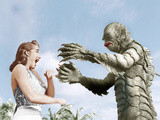 CREATURE FROM THE BLACK LAGOON, from left: Julie Adams, Ben Chapman, 1954 Prints