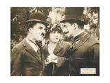 CHASE ME CHARLIE, left: Charlie Chaplin on lobbycard, 1918. Art