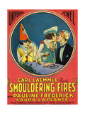 SMOULDERING FIRES, from left: Pauline Frederick, Laura La Plante, Malcolm McGregor, 1925. Prints