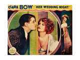 HER WEDDING NIGHT, l-r: Ralph Forbes, Clara Bow on lobbycard, 1930 Print