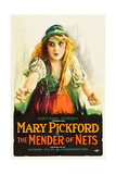 THE MENDER OF NETS, Mary Pickford on poster art, 1912. Posters