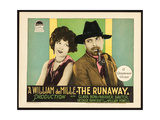 THE RUNAWAY, l-r: Clara Bow, Warner Baxter on title card, 1926. Prints