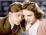 BABES IN ARMS, from left: Mickey Rooney, Judy Garland, 1939 Photo