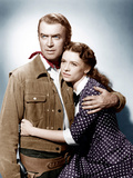 THE MAN FROM LARAMIE, from left: James Stewart, Cathy O'Donnell, 1955 Plakater