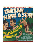 TARZAN FINDS A SON, Maureen O'Sullivan, Johnny Weissmuller, Johnny Sheffield, 1939 Prints