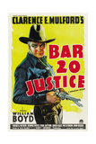 BAR 20 Justice, William Boyd, 1938 Poster