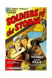 SOLDIERS OF THE STORM, from left: Anita Page, Regis Toomey, 1933. Plakater