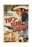 TWO-FISTED SHERIFF, Charles Starrett, 1937 Posters
