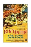 THE LONE DEFENDER, from left: June Marlowe, Rin-Tin-Tin in 'Episode 2: The Fugitive', 1930. Poster