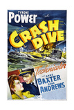 CRASH DIVE, US poster, Anne Baxter, Tyrone Power, 1943 Art