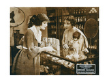 THE VEILED ADVENTURE, left: Constance Talmadge on lobbycard, 1919 Posters