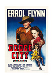 DODGE CITY, Errol Flynn, Olivia De Havilland, Ann Sheridan, 1939 Prints