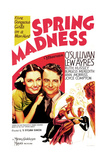 SPRING MADNESS, US poster art, from left: Maureen O'Sullivan, Lew Ayres, 1938 Posters
