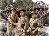 THE BRIDGE ON THE RIVER KWAI, from left: Alec Guinness, William Holden, Jack Hawkins, 1957 Photo