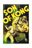 THE SON OF KONG, from left: Robert Armstrong, Helen Mack, 1933 Print