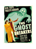THE GHOST BREAKERS, from left: Paulette Goddard, Bob Hope on window card, 1940 Posters
