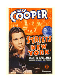 STREETS OF NEW YORK, from left: Jackie Cooper, Marjorie Reynolds on window card, 1939. Posters