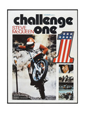 CHALLENGE ONE, French poster, Steve McQueen, 1971 Reproduction giclée Premium