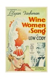 WINE, WOMEN AND SONG, from left: Lilyan Tashman, Lew Cody, 1933 Art