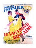 LE VAGABOND BIEN-AIME, French poster art, from left: Betty Stockfeld, Maurice Chevalier, 1937 Prints
