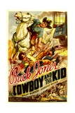 THE COWBOY AND THE KID, from top, Buck Jones, Bill Burrud, 1936 Poster