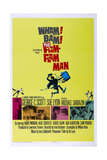 THE FLIM FLAM MAN, US poster, bottom pink photo: Michael Sarrazin, Sue Lyon, 1967 Poster