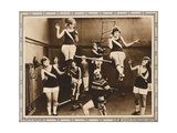 IT PAYS TO EXERCISE, bottom center: Chester Conklin on lobbycard, 1918 Print