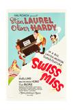 Swiss Miss, Stan Laurel, Oliver Hardy on US poster art, 1938 Plakat