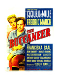 THE BUCCANEER, from left: Franciska Gaal, Fredric March on midget window card, 1938. Prints