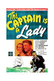 THE CAPTAIN IS A LADY, US poster, from left: Virginia Grey, Dan Daily Jr., Charles Coburn, 1940 Prints