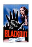 CONTRABAND, (aka BLACKOUT), US poster, Valerie Hobson, Conrad Veidt, 1940 Poster