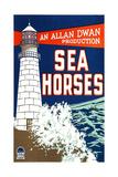 SEA HORSES, poster art, 1926. Poster