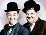 From left: Stan Laurel, Oliver Hardy, (aka Laurel & Hardy), ca. 1930s Fotografía