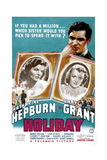HOLIDAY, top right: Cary Grant, bottom from left: Katharine Hepburn, Doris Nolan, 1938 Prints