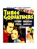 THREE GODFATHERS, from left: Chester Morris, Irene Hervey on window card, 1936 Poster