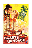 HEARTS IN BONDAGE, US poster art, from left: James Dunn, Mae Clarke, 1936 Prints