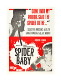 SPIDER BABY, top: Jill Banner, bottom: Beverly Washburn on 1968 poster art, 1964 Poster