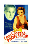 ANN CARVER'S PROFESSION, from left: Gene Raymond, Fay Wray on midget window card, 1933. Prints