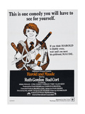 HAROLD AND MAUDE, South African poster, Bud Cort, 1971. Poster
