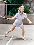 Carole Landis plays tennis, ca. 1940 Prints